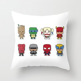 Baby Superheroes Throw Pillow