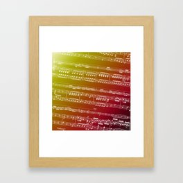 Double Bass Concerto Music on Red Framed Art Print