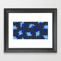 Stars (Navy & Sky on Blue) Framed Art Print