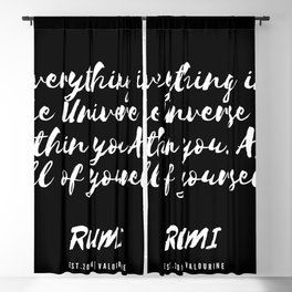 9 | Rumi Quotes Good Vibes 190514 Blackout Curtain