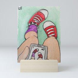 Shoes Selfie Mini Art Print