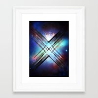 sci fi Framed Art Prints featuring Sci-Fi Shards by Alli Vanes