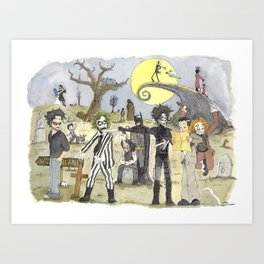 Le petit monde de Tim Burton / Tim Burton's little world Art Print