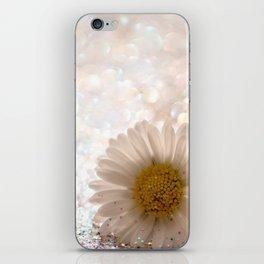 GLITTER & DAISY GOLD iPhone Skin
