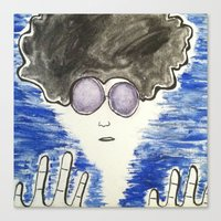 hippie Canvas Prints featuring Hippie by ArtAngel