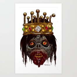 Heads of the Living Dead Zombies: King Zombie Art Print