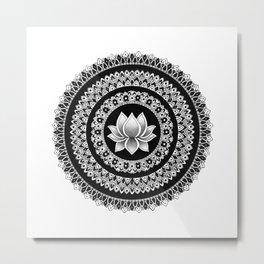 Lotus Mandala Metal Print