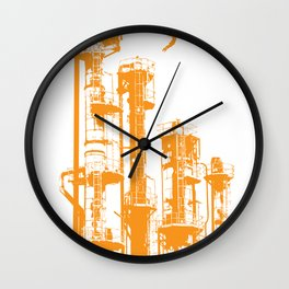 Factory Jump (orange) Wall Clock