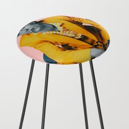 pinky bowie 2 Counter Stool