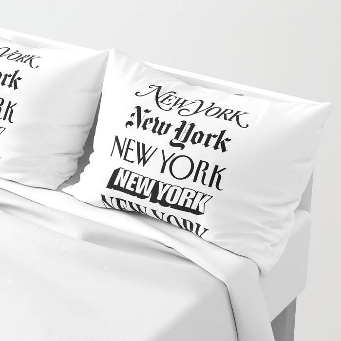 I Heart New York City Black and White New York Poster I Love NYC Design black-white home wall decor Kissenbezug