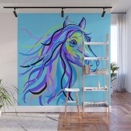 Blue Horse Wall Mural