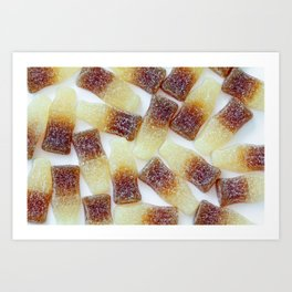 Fizzy Cola Bottles Art Print