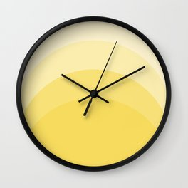 Four Shades of Yellow Curved Wall Clock