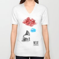 record V-neck T-shirts featuring Record by Evan Abramsky