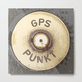 GPS PUNKT Metal Print