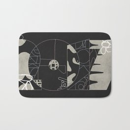 Abstract Numbers & Patterns Bath Mat