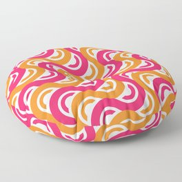 refresh curves and waves geometric pattern Floor Pillow