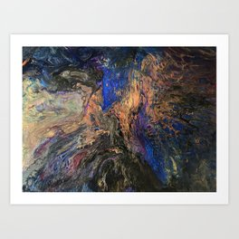 Galaxy Dance - Cosmos Celestial Universe and Space Inspired Abstract Fluid Art Art Print