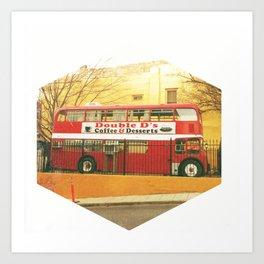 Bus Cafe Art Print