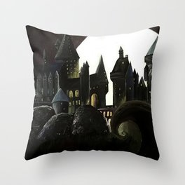 Nightmare Before Hogwarts Throw Pillow
