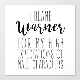 High Expectations - Warner Canvas Print