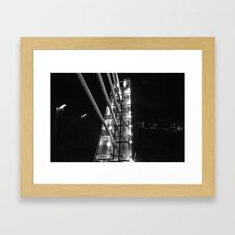 Detroit Pedestrian Bridge BW Framed Art Print