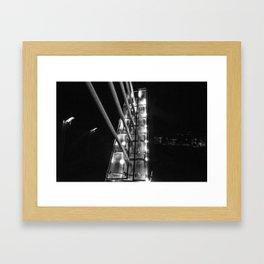 Detroit Pedestrian Bridge BW Framed Art Print