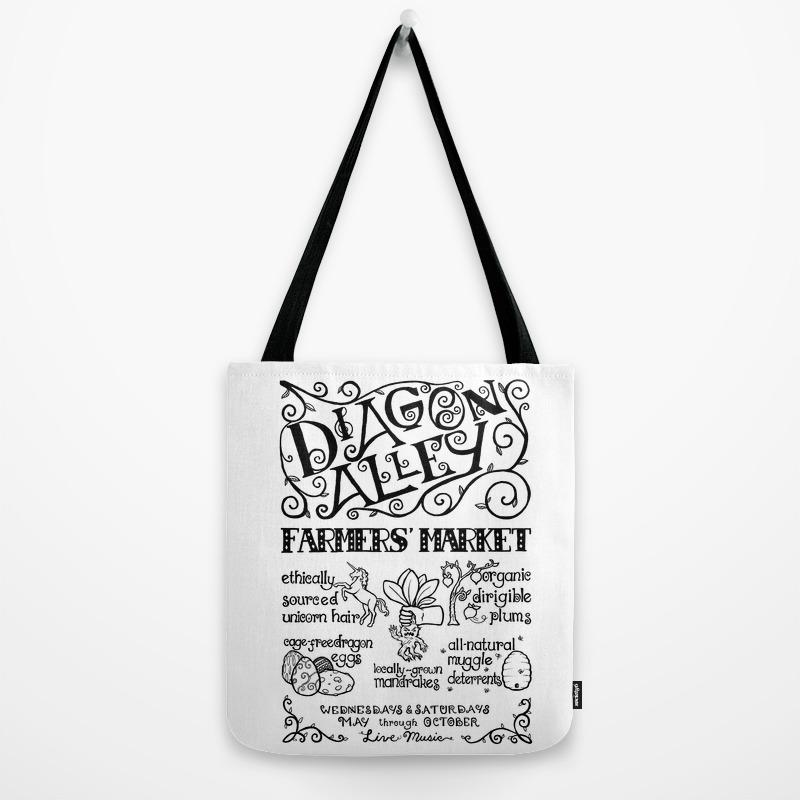 Diagon Alley Farmers Market Tote Bag