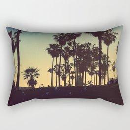 Venice Beach Sunset Rectangular Pillow