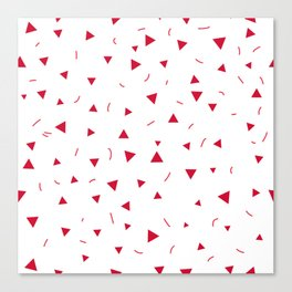 Kid pattern. Seamless pattern with small triangles on a white background. Canvas Print