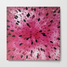 Watermelon Explosion Metal Print