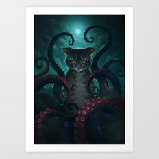 Catthulhu Art Print