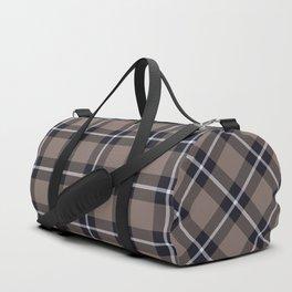 big dark weave monochrome Duffle Bag