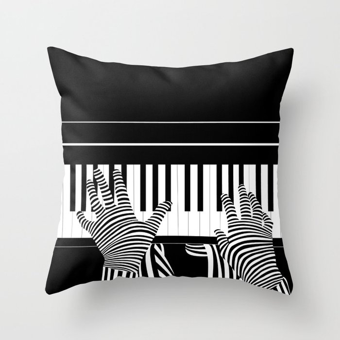 B&W Pianist Deko-Kissen