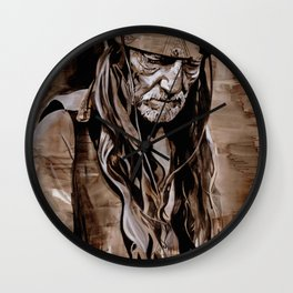 Sepia Willie Wall Clock