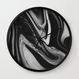 OCEAN - BLACK Wall Clock