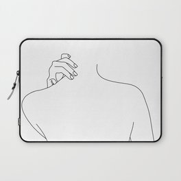 Nude back line drawing - Mai Laptop Sleeve