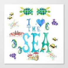 I Love the Sea Canvas Print