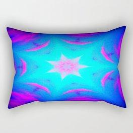 pink & blue starburst Rectangular Pillow