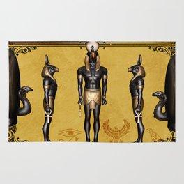 Horus Egyptian deities. Rug