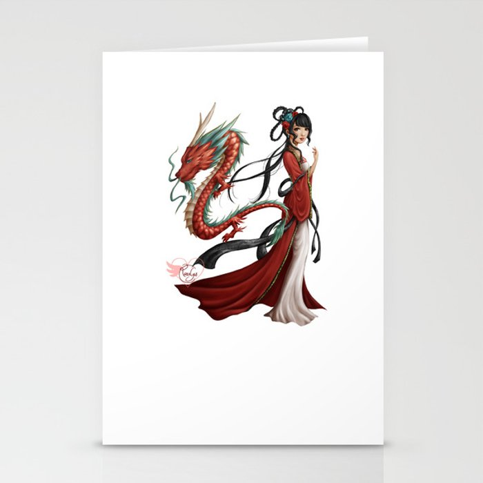 Chinese dragon pure Stationery Cards