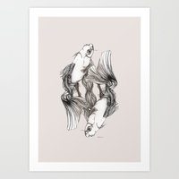 koi Art Prints featuring Koi by Heaven7