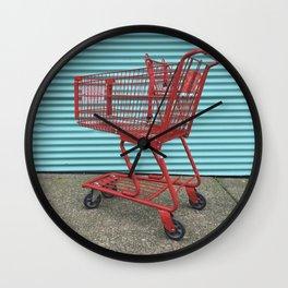 Going Shopping Wall Clock