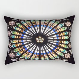 Stained glass cathedral rosette Rectangular Pillow