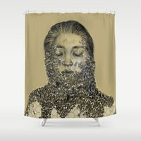 bees Shower Curtains featuring bees by stacyyufa