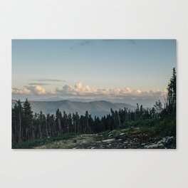 The 'Dacks and the Clouds Canvas Print