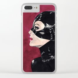 Catwoman circa 1992 Clear iPhone Case