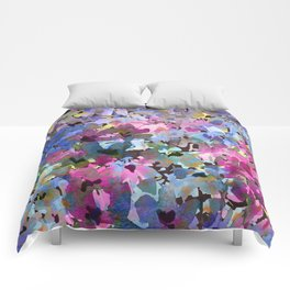Little Blue Delphiniums Comforters