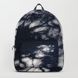Navy Blue Pine Tree Shadows on Cement Backpack