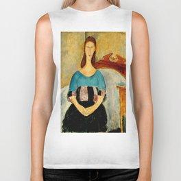 """Amedeo Modigliani """"Portrait of Jeanne Hebuterne, Seated"""" 1918 Biker Tank"""